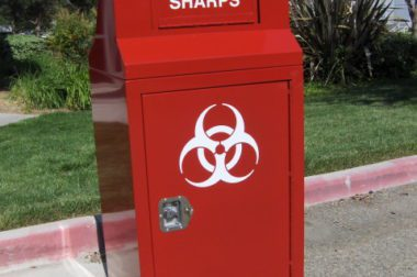 Used Needle Disposal Container